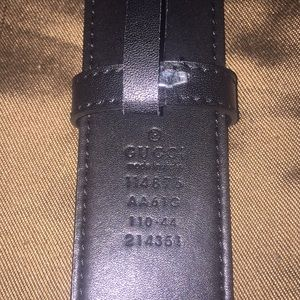 45576cd7598 Gucci Accessories - Gold on black Gucci belt Made in Italy